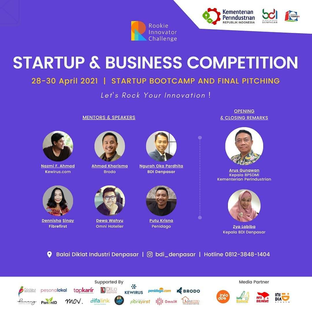 """Startup & Business Competition: Startup Bootcamp and Final Pitching """"Let's Rock Your Innovation!"""""""